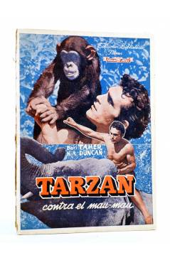 Cubierta de BIBLIOTECA FILMS 413. TARZÁN CONTRA EL MAU MAU (Balci Tamer / N.A. Duncan) Alas Circa 1950
