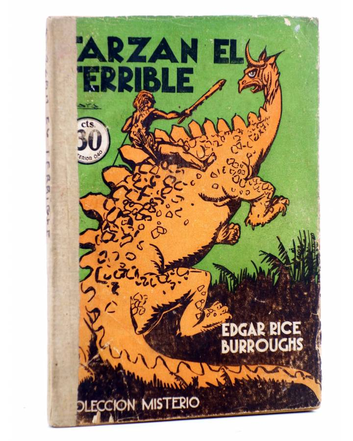 Cubierta de COLECCIÓN MISTERIO 92. TARZÁN EL TERRIBLE (Edgar Rice Burroughs) J.C. Rovira 1932