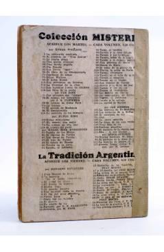Contracubierta de COLECCIÓN MISTERIO 92. TARZÁN EL TERRIBLE (Edgar Rice Burroughs) J.C. Rovira 1932