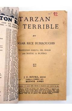 Muestra 2 de COLECCIÓN MISTERIO 92. TARZÁN EL TERRIBLE (Edgar Rice Burroughs) J.C. Rovira 1932