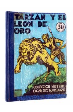 Cubierta de COLECCIÓN MISTERIO 93. TARZÁN Y EL LEÓN DE ORO (Edgar Rice Burroughs) J.C. Rovira 1932