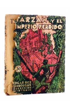 Cubierta de COLECCIÓN MISTERIO 96. TARZÁN Y EL IMPERIO PERDIDO (Edgar Rice Burroughs) J.C. Rovira 1932