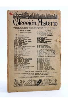 Contracubierta de COLECCIÓN MISTERIO 96. TARZÁN Y EL IMPERIO PERDIDO (Edgar Rice Burroughs) J.C. Rovira 1932