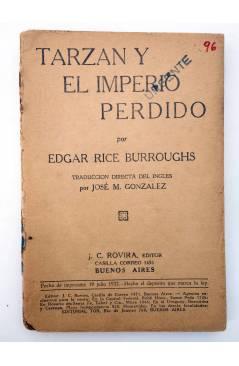 Muestra 2 de COLECCIÓN MISTERIO 96. TARZÁN Y EL IMPERIO PERDIDO (Edgar Rice Burroughs) J.C. Rovira 1932