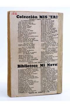 Contracubierta de COLECCIÓN MISTERIO 126. TARZÁN EL MAGNÁNIMO (Alfonso Quintana) J.C. Rovira 1933. APÓCRIFO