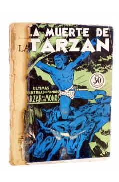 Cubierta de COLECCIÓN MISTERIO 127. LA MUERTE DE TARZÁN (Alfonso Quintana) J.C. Rovira 1933. APÓCRIFO