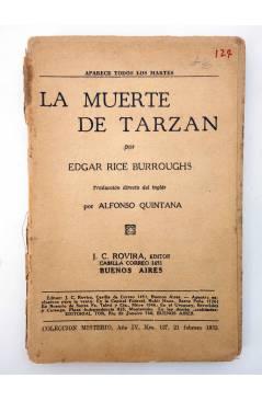 Muestra 2 de COLECCIÓN MISTERIO 127. LA MUERTE DE TARZÁN (Alfonso Quintana) J.C. Rovira 1933. APÓCRIFO