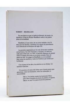 Contracubierta de ESCRITOS EN PRISIÓN: POEMAS DE FRESNES (Robert Brasillach) Nuevo Arte Thor 1977