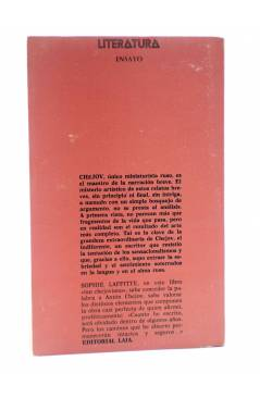 Contracubierta de CHEJOV SEGÚN CHEJOV (Sophie Laffitte) Laia 1972
