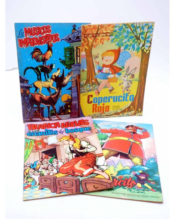 Cubierta de ADAPTACIONES GRÁFICAS DE CUENTOS CLÁSICOS 1 A 4. COMPLETA (Soriano Izquierdo / Karpa / Cartus / Mosquera) Va
