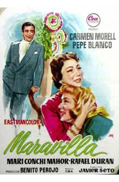 Cubierta de PROGRAMA DE MANO. MARAVILLA (Javier Setó) 1957. CARMEN MORELL PEPE BLANCO MARI CONCHI MAHOR