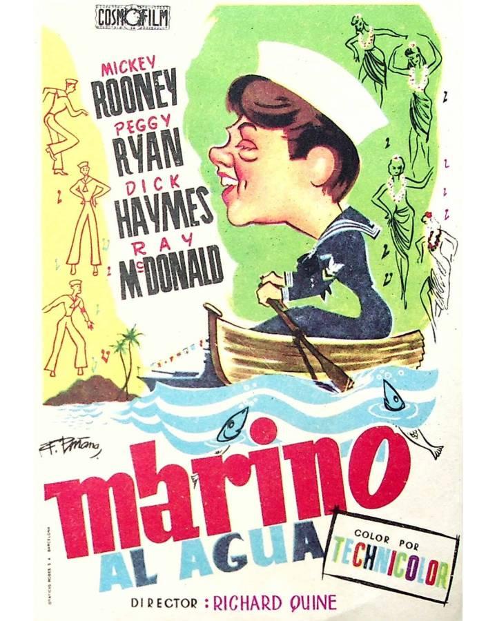 Cubierta de PROGRAMA DE MANO. MARINO AL AGUA (Richard Quine). MICKEY ROONEY PEGGY RYAN DICK HAYMES