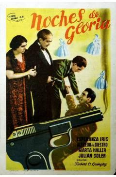 Cubierta de PROGRAMA DE MANO. NOCHES DE GLORIA (Robert O. Quingley) Nueva Films 1946. ESPERANZA IRIS