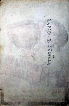 Contracubierta de PROGRAMA DE MANO. A LA ORILLA DE UN PALMAR (Raphael J. Sevilla) Rey Soria. MARÍA TAMAYO