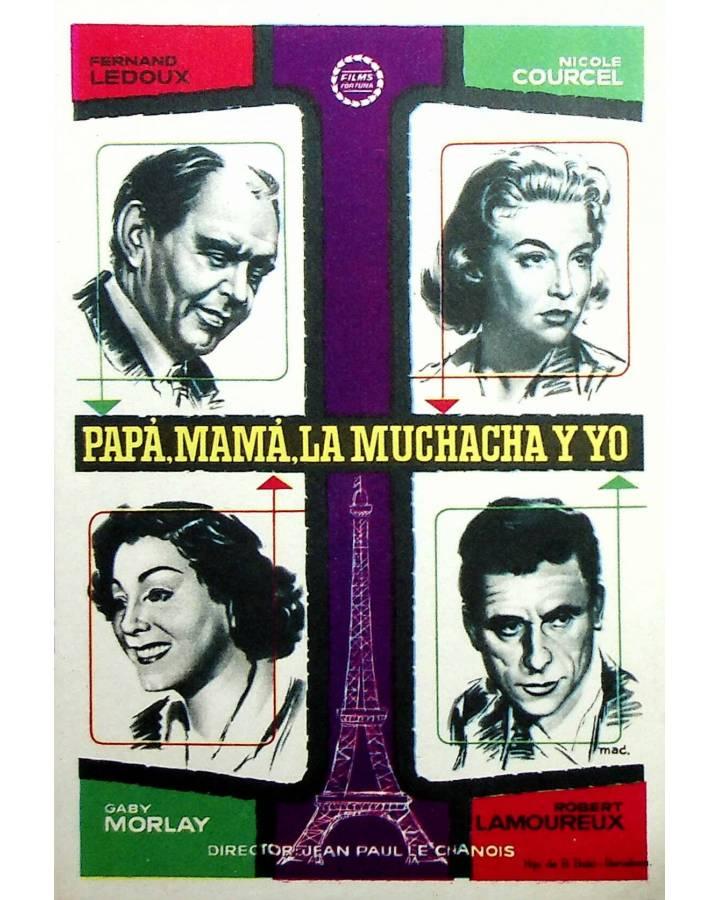 Cubierta de PROGRAMA DE MANO. PAPÁ MAMA LA MUCHACHA Y YO (Jean Paul Le Chanois). ROBERT LAMOREAUX
