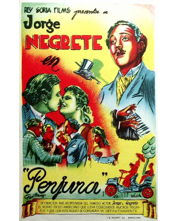 Cubierta de PROGRAMA DE MANO. PERJURA (Raphael J. Sevilla) Rey Soria 1946. JORGE NEGRETE
