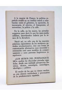 Contracubierta de BIT 1. LOS MUROS DEL POSTFRANQUISMO (Pedro Sempere) Castellote 1977