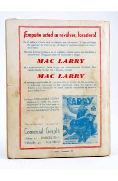 Contracubierta de EL COYOTE 16. EL SECRETO DE LA DILIGENCIA (J. Mallorquí) Cliper 1944