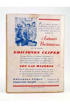 Contracubierta de EL COYOTE 27. CUANDO EL COYOTE AVISA (J. Mallorquí) Cliper 1944