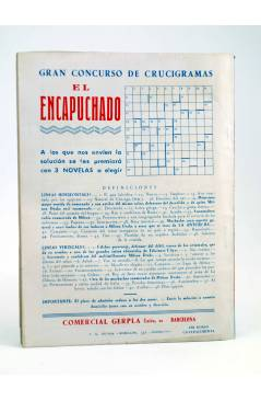 Contracubierta de EL COYOTE 49. REUNIÓN EN LOS ÁNGELES (J. Mallorquí) Cliper 1944