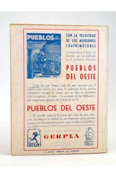Contracubierta de EL COYOTE 80. MUERTE: PUNTO DE DESTINO (J. Mallorquí) Cliper 1944