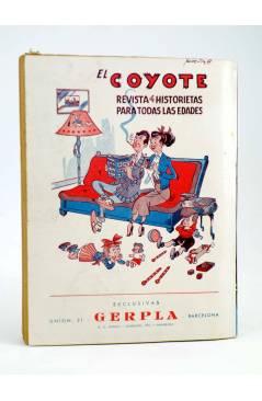 Contracubierta de EL COYOTE 84. LA TRAICIÓN DEL COYOTE (J. Mallorquí) Cliper 1944