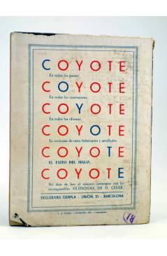 Contracubierta de EL COYOTE 92. EL AHIJADO DE DON GOYO (J. Mallorquí) Cliper 1944