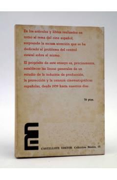 Contracubierta de BÁSICA 15 313-315. CINE Y CONTROL (D. Y C. Pérez Merinero) Castellote 1975