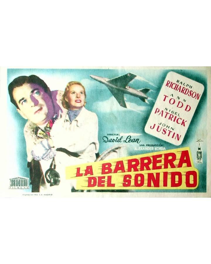 Cubierta de PROGRAMA DE MANO. LA BARRERA DEL SONIDO (David Lean) London Films. RALPH RICHARDSON ANN TODD