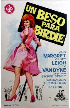 Cubierta de PROGRAMA DE MANO. UN BESO PARA BIRDIE (George Sidney) 1964. ANN MARGRET JANET LEIGH DICK VAN DYKE