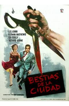 Cubierta de PROGRAMA DE MANO. BESTIAS DE LA CIUDAD (Vincent Sherman) Columbia Pictures 1961. LEE J. COBB