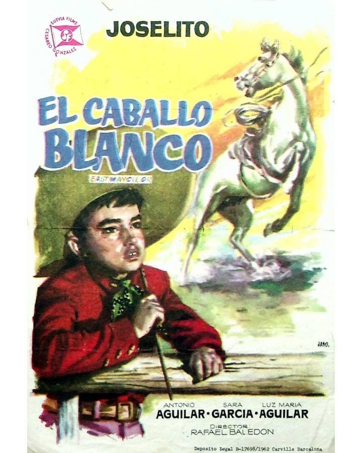 Cubierta de PROGRAMA DE MANO. EL CABALLO BLANCO (Rafael Baledón) 1962. JOSELITO ANTONIO AGUILAR SARA GARCÍA
