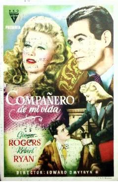 Cubierta de PROGRAMA DE MANO. COMPAÑERO DE MI VIDA (Edward Dmytryk) R.K.O.. GINGER ROGERS