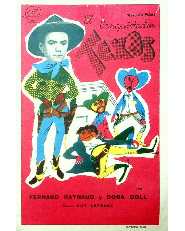 Cubierta de PROGRAMA DE MANO. EL CONQUISTADOR DE TEXAS (Guy Lefranc) Nervión. FERNAND RAYNAUD