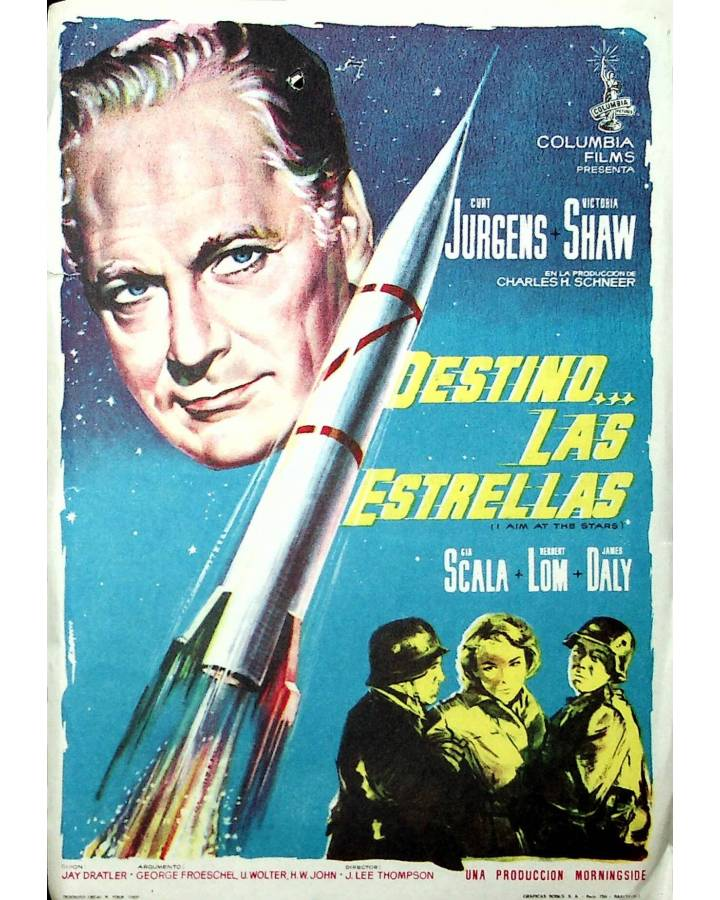 Cubierta de PROGRAMA DE MANO. DESTINO… LAS ESTRELLAS (J. Lee Thompson) Columbia Pictures 1963. CURT JURGENS