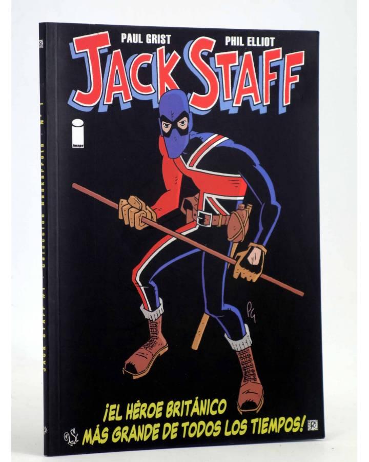 Cubierta de JACK STAFF 1. EL HEROE BRITÁNICO MÁS GRANDE DE TODOS LOS TIEMPOS (Paul Grist) Recerca 2004