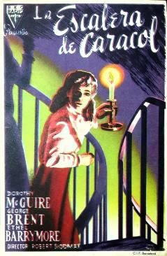 Cubierta de PROGRAMA DE MANO. LA ESCALERA DE CARACOL (Robert Siodmak) R.K.O. 1948. DOROTHY MC GUIRE