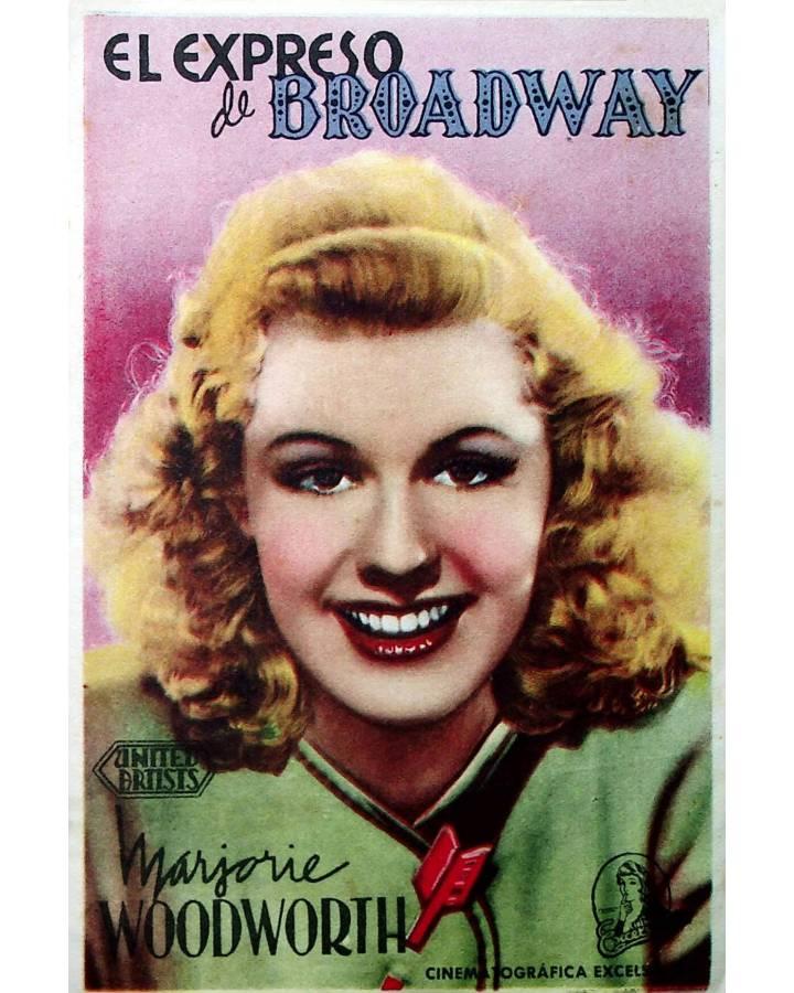 Cubierta de PROGRAMA DE MANO. EL EXPRESO DE BROADWAY. United Artists 1945. MARJORIE WOODWORTH DENNIS O'KEEFE