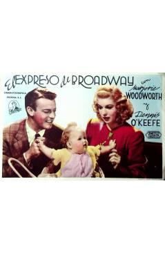 Cubierta de PROGRAMA DE MANO. EL EXPRESO DE BROADWAY (HOR 1). United Artists 1945. MARJORIE WOODWORTH
