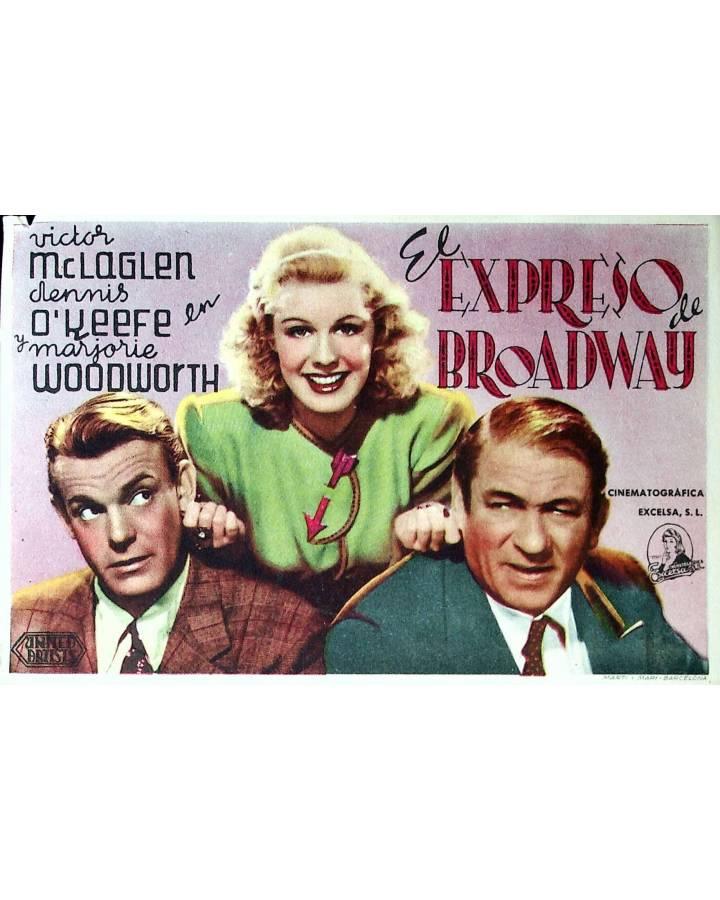 Cubierta de PROGRAMA DE MANO. EL EXPRESO DE BROADWAY (HOR 2). United Artists 1945. MARJORIE WOODWORTH