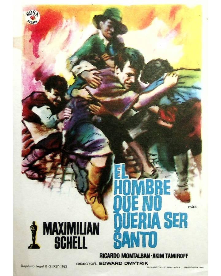 Cubierta de PROGRAMA DE MANO. EL HOMBRE QUE NO QUERÍA SER SANTO (Edward Dmytryk) 1962. MAXIMILIAN SCHELL