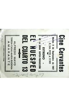 Contracubierta de PROGRAMA DE MANO. EL HUÉSPED DEL CUARTO 13 1947. ALFREDO MAYO TERESA CASAL MARIA EUGENIA