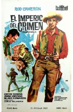 Cubierta de PROGRAMA DE MANO. EL IMPERIO DEL CRIMEN - PANHANDLE (Lesley Selander) 1963. ROD CAMERON CATHY DOWNS
