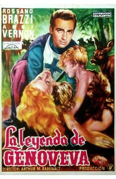 Cubierta de PROGRAMA DE MANO. LA LEYENDA DE GENOVEVA (Arthur M. Rabenalt) 1953. RASSANO BRAZZI ANNE VERNON