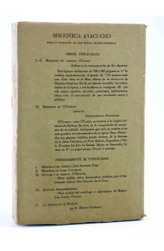 Contracubierta de LA DIPLOMACIA DE CHILE DURANTE LA EMANCIPACIÓN (Alejandro Álvarez) América 1910