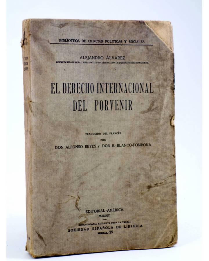 Cubierta de EL DERECHO INTERNACIONAL DEL PORVENIR (Alejandro Álvarez) América 1916