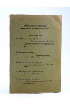 Contracubierta de LA FEDERACIÓN EN COLOMBIA 1810-1912 (José De La Vega) América Circa 1910