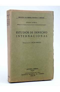 Cubierta de ESTUDIOS DE DERECHO INTERNACIONAL (Cecilio Acosta) América Circa 1915