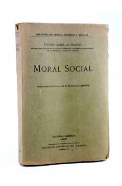 Cubierta de MORAL SOCIAL (Eugenio María De Hostos) América Circa 1917