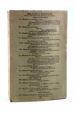 Contracubierta de MORAL SOCIAL (Eugenio María De Hostos) América Circa 1917